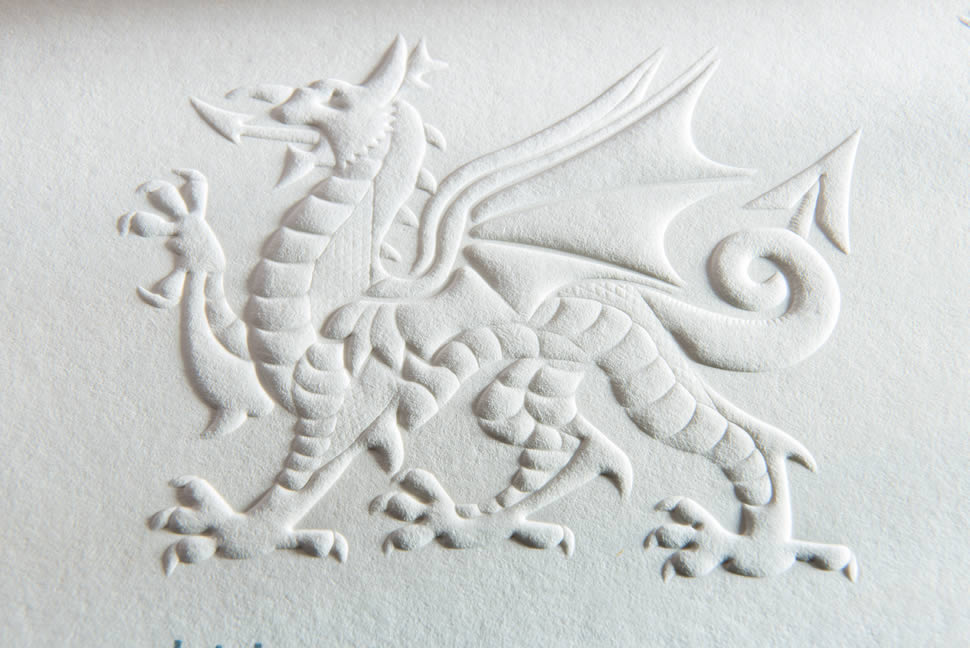 embossing by infographics ltd south wales